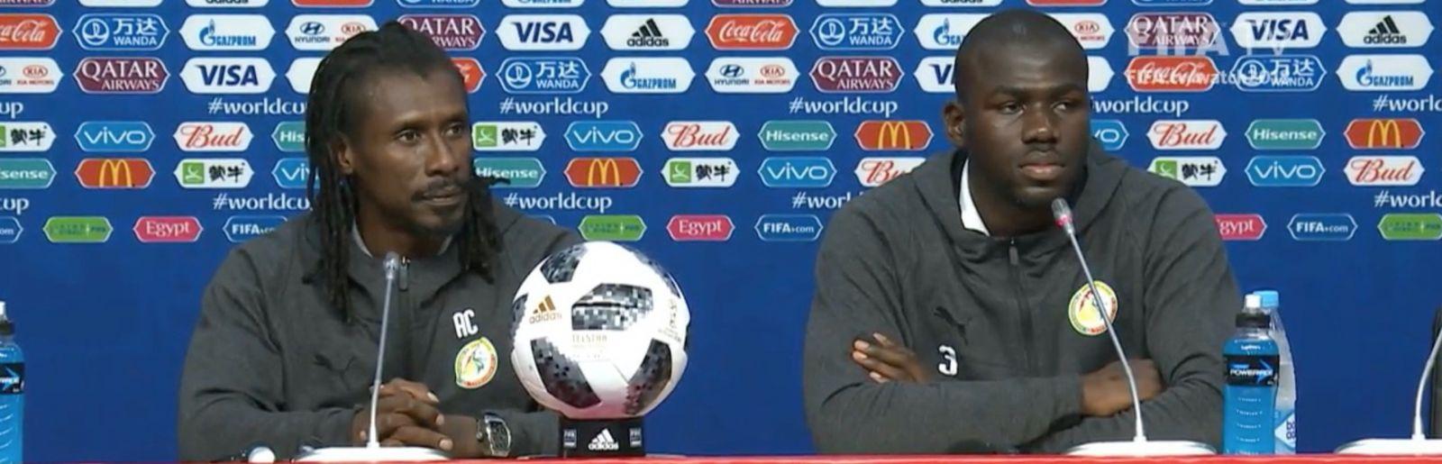 """Aliou Cissé : """"J'ai énormément confiance en Keïta Baldé"""" contre la Colombie"""