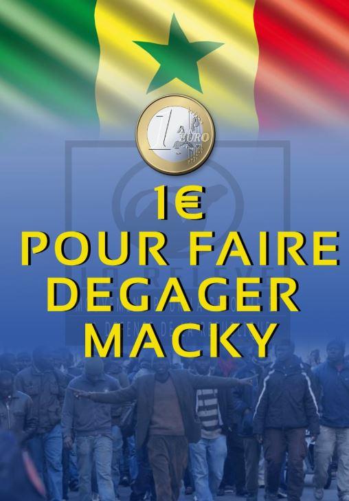 Présidentielle 2019 – La Diaspora lance la campagne « 1€ Pour faire dégager Macky Sall »