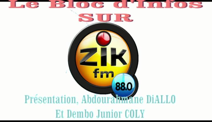 Le bloc d'information de Zik FM/Sama FM Ziguinchor 88.0
