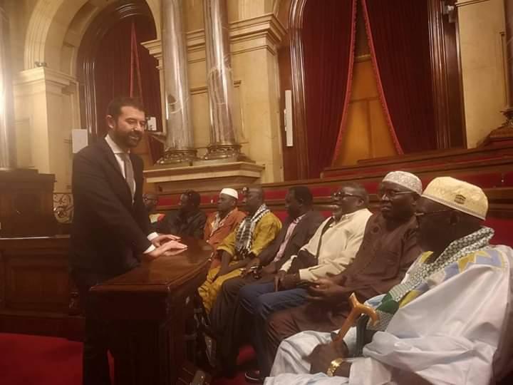 En tournee religieuse en Europe, le marabout El hadji Fansou Bodian reçu au parlement de la Catalunya (photos)