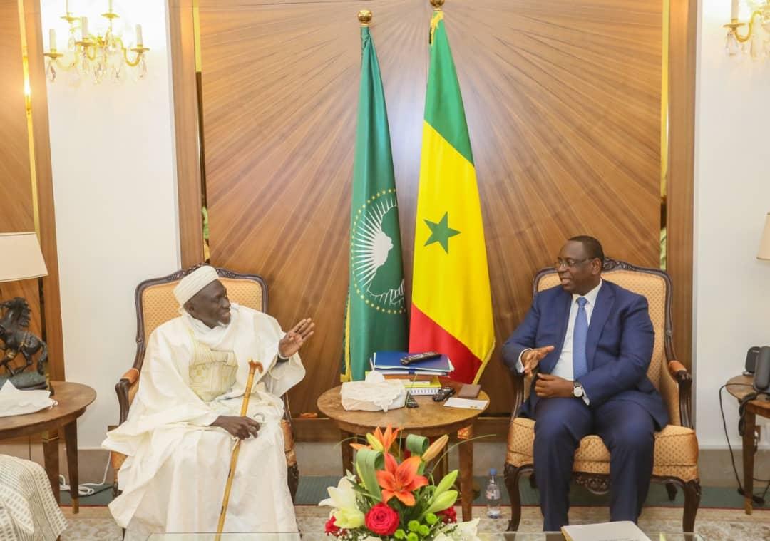 Urgent: Le Marabout Fansou Bodian reçu au Palais par le chef de l'Etat (photos)
