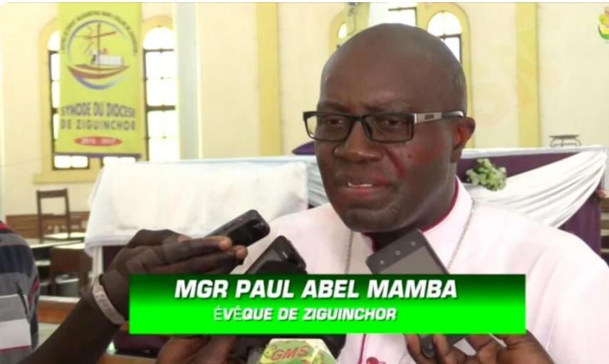 """Mgr Paul Abel Mamba, Evêque de Ziguinchor : """"Noël sera bel et bien célébré dans les églises…"""""""