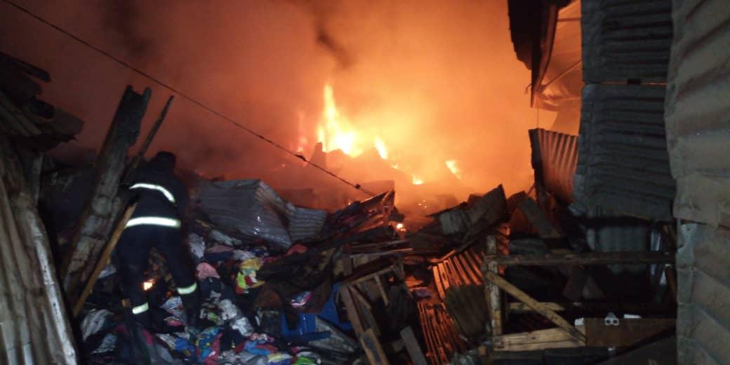 Violent Incendie au marché central de Kaolack: 8 cantines emportées par les flammes…