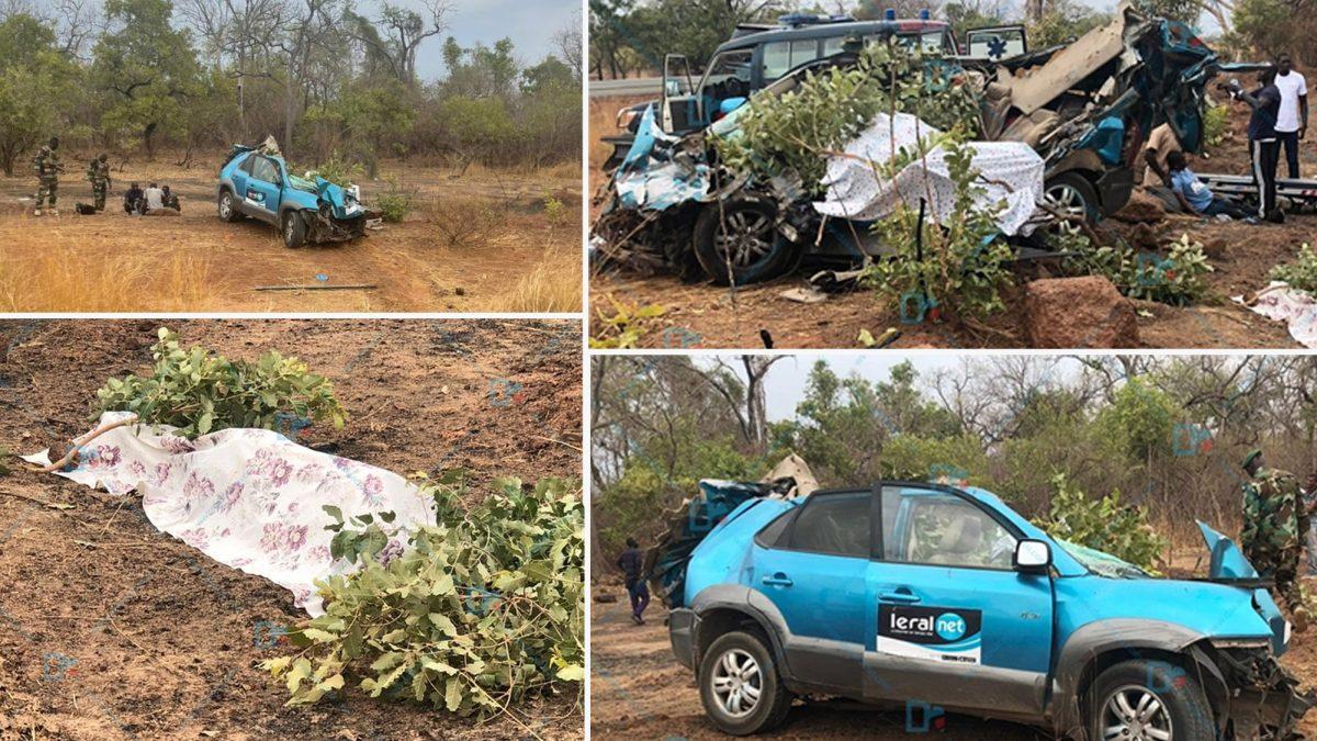 Drame à Kédougou : 3 journalistes de Leral Tv meurent dans un accident