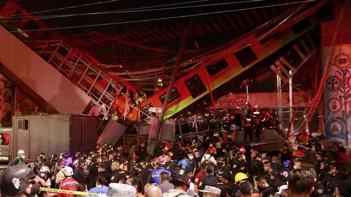 Effondrement d'un pont du métro aérien au Mexique: Au moins 20 Morts et 70 blessés enregistrés