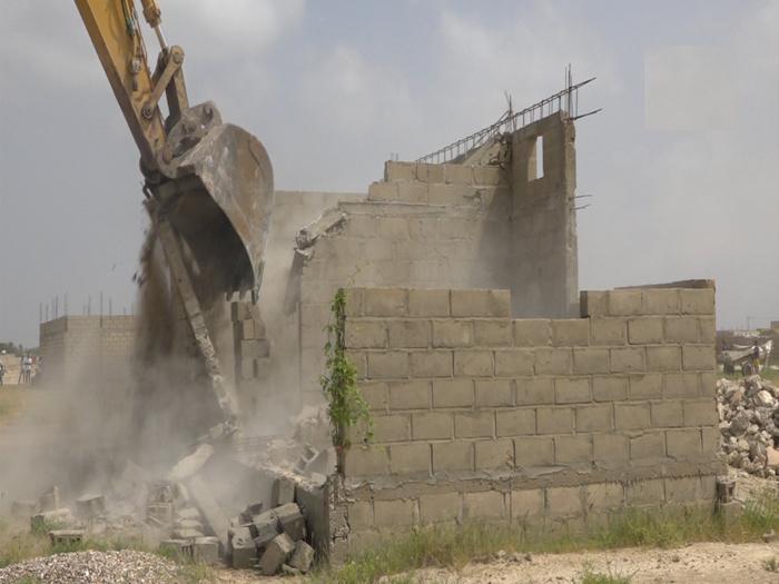 Saint-Louis : La DSCOS démolit plusieurs maisons dans le quartier de Khar Yalla