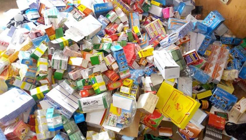 Faux Médicaments: La douane saisit une importante quantité de produits impropres à la consommation