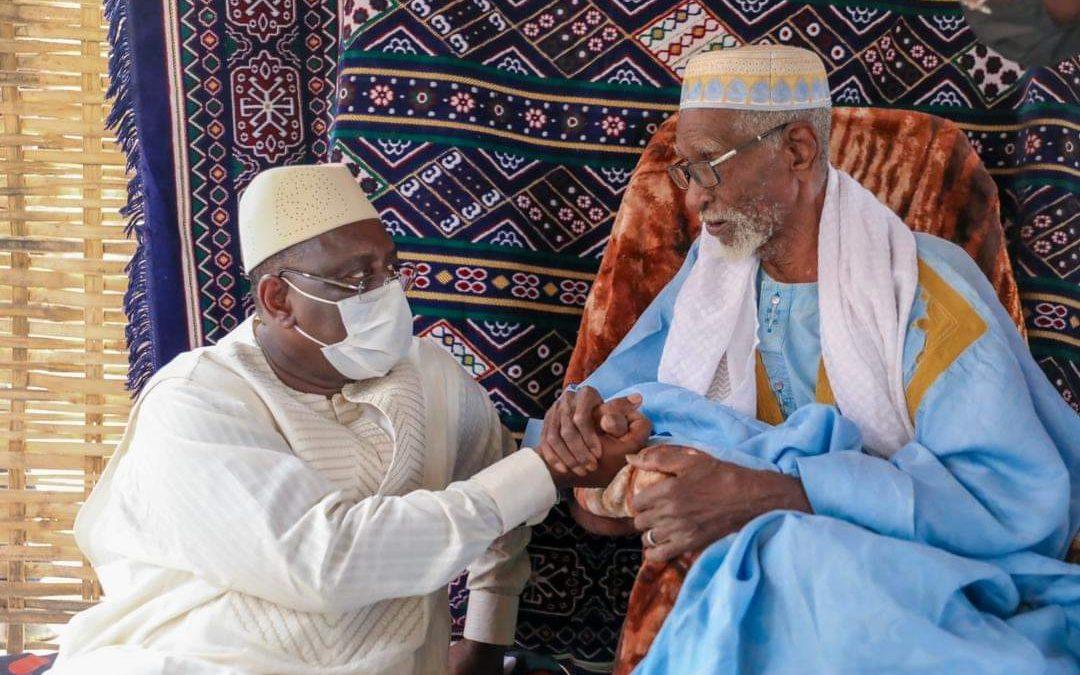 Le président Macky Sall et l'homme qui a prononcé son nom de baptême