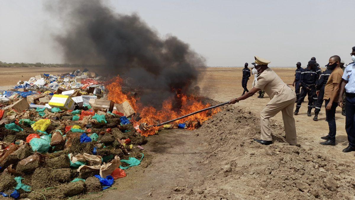 Thiès : 11 tonnes de produits impropres saisies puis incinérées par le service d'hygiène